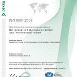 Hinterdobler Fabrikations GmbH | Zertifiziereung nach ISO 9001:2008