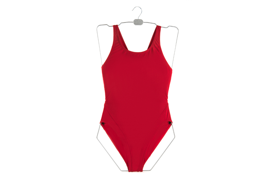 Swimsuit hanger in different sizes for women and girls, aluminium colour