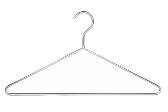 Wardrobe hanger made of stainless steel, wire diameter 5 mm